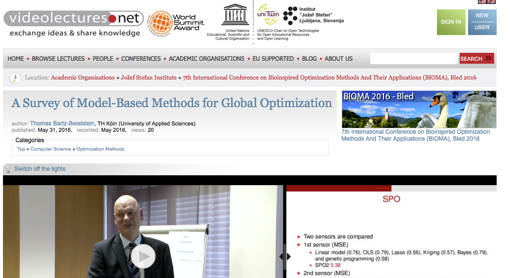 Free Video Lecture: A Survey of Model-Based Methods for Global