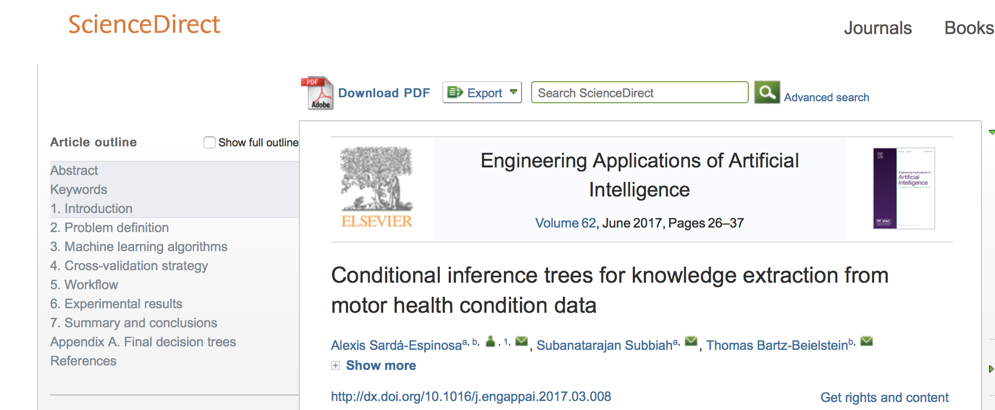New Article: Conditional Inference Trees for the Knowledge